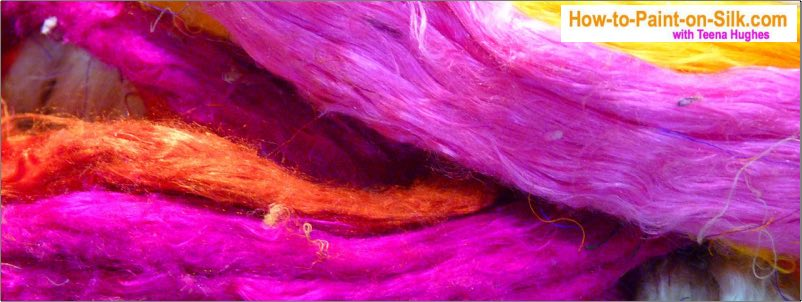 Teena says the best silk to buy for silk painting beginners is Habotai