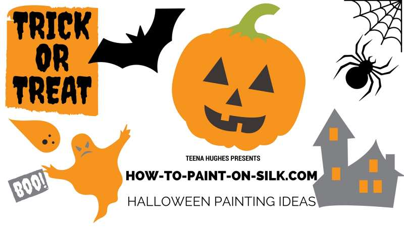 Silk Painting Ideas for Halloween