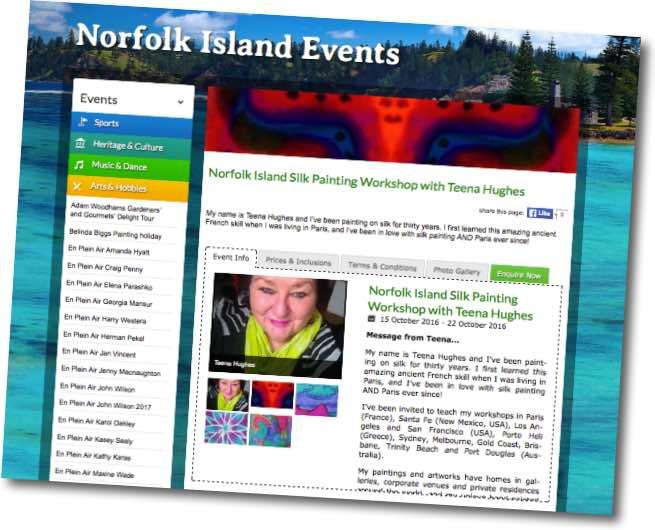 Norfolk Island Silk Painting Week