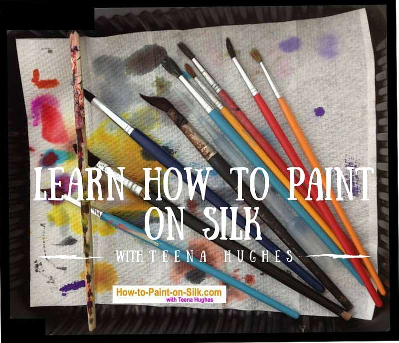 Learn how to paint on silk with Teena Hughes