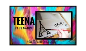 Silk Painting in Paris with Teena Hughes