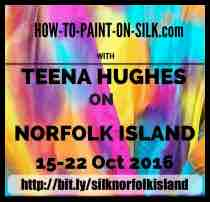 Learn how to paint on silk with Teena Hughes on Norfolk Island