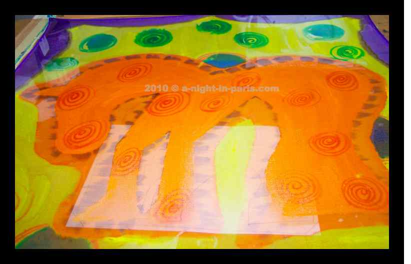 how-to-paint-on-silk-student-orange-horse