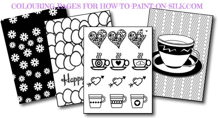 Silk Painting News on colouring pages