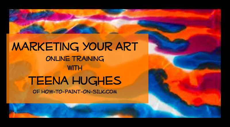 Silk Painting News announcing Marketing Your Art Course