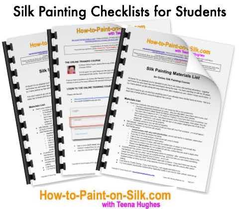 Quick start checklist for silk painting students