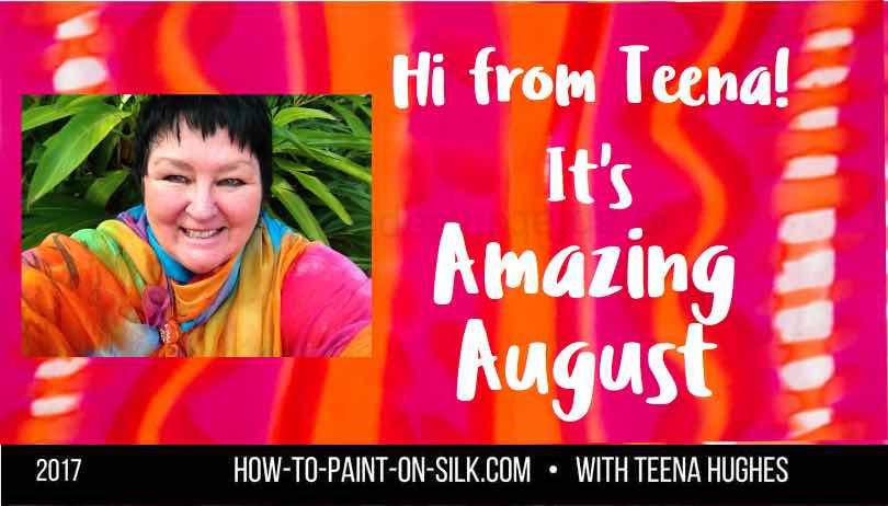 Silk Painting News August 2017