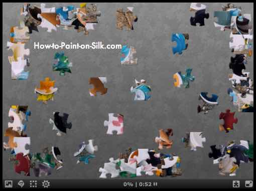 Silk Painting News August 2017 - Puzzle 002