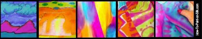 Learn silk painting with Teena Hughes