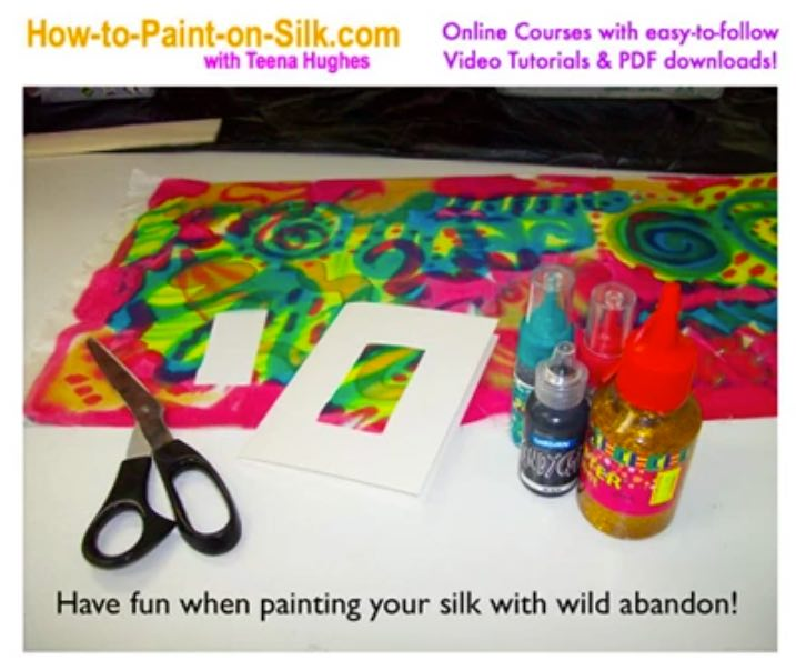 Making silk cards from scraps of silk